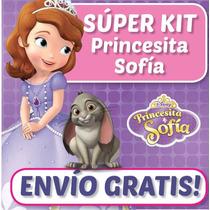 Kit Imprimible Princesita Sofia, Decoraciones Cajitas Fiesta