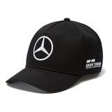 Gorra Lewis Hamilton Mercedes Amg Petronas F1 Curva Negro