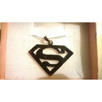 Superman Excelente Dije En Plata Ley ,925 Con Cadena