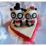 Figura De Pastel De Bodas Con Pareja De Pandas