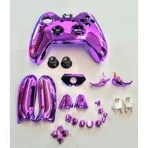 Carcaza Para Control De Xbox One Color Morado Cromado