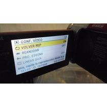 Videocámara Panasonic Sdr - H101 Roja Disco Duro 80 Gb