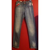 Jeans Pantalón Juvenil Talla 12 Casual Corte Cadera Skinny