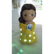Princesa De Ceramica, 20cm Lampara Pintada A Mano Artesanias