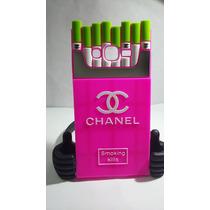 Protector Silicon 3d Chanel Cigarrera Rosa Prime