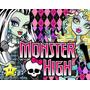 Kit Imprimible Monster High Diseñá Tarjetas, Cumples Y Mas