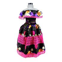 Disfraz Catrina Niña Frida Kahlo Halloween Vestido Mexicana