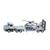Juguete Lorry Helicóptero - Siku Policía Low Loader W Mini