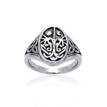 Bling Jewelry Sterling Celeste Árbol Céltico Del Anillo De