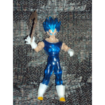 Figura Dragon Ball Z Vegeta Super Sayayin Dios Saya Con Luz