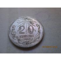 Moneda 20 Centavos Plata Ley 0.720