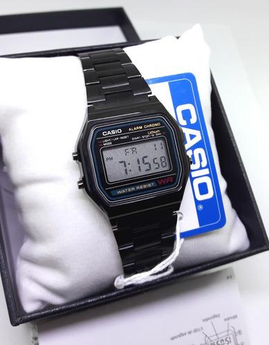 a6a23fe64331 Reloj A158 Negro Clasico Retro Vintage Caja Manual Black