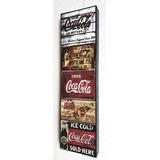 Coca Cola Placas Vintage Cuadro Cartel 12 X 46 Cm