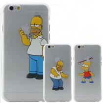 Funda Crystal Case Homero Simpsons Iphone 6 O 6 Plus + Mica