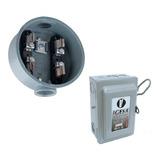 Kit Socket Base Medidor Cfe+caja Fusible Palanca 2p 30a 110v
