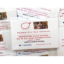 3 Pulseras Hilo Rojo Kabbalah C/instr, Libro, Oracion, Envio
