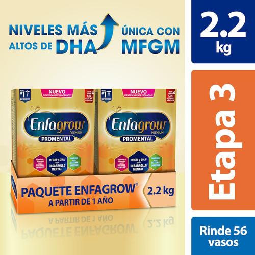 Leche De Crecimiento Enfagrow Etapa 3, 2 Cajas De 1.1 Kg