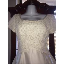 Exclusivo Vestido De Novia Marca Ceremonia Ivory Talla Chica
