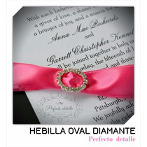 25 Hebillas Oval Diamante Decoracion De Invitaciones