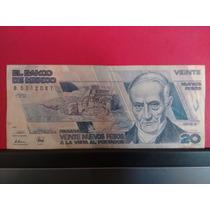 Billete De $20. Veinte Pesos Andres Quintana Roo
