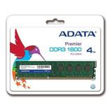 Memoria Ram 4 Gb 1x4gb Adata Ad3u1600w4g11-s