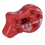 Pedal Multiefecto De Guitarra Ammoon Pockrock Portátil Rojo