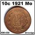 10 Cent. 1921 Mo Excelente Condición