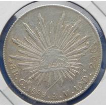 Moneda Mo 8 R Culiacan 1889 A M Excelente Condicion Plata