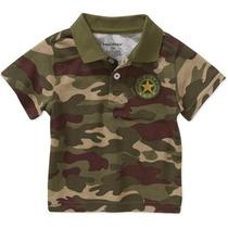 Camisa Playera Militar Camuflaje Talla 24 Meses Envio Gratis