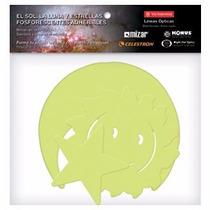 Figuras Adheribles Fluorescentes Sol Luna Y Estrellas