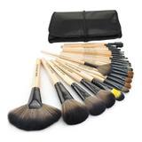 Set De 24 Brochas De Maquillaje Make Up For You Brush Negro