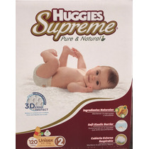 Pañales Huggies Supreme Etapa 2 Unisex 120 Piezas