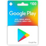 Google Play Store Tarjeta De Regalo Digital $100