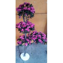 Topiario Artificial De Flores