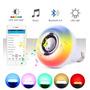 Bocina Bluetooth Foco Led Multicolor Rgb Con Control