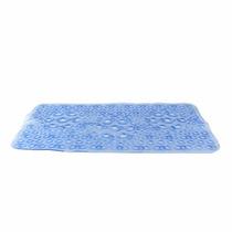 Tapete Para Baño Geometrica Color Azul Antiderrapante Namaro