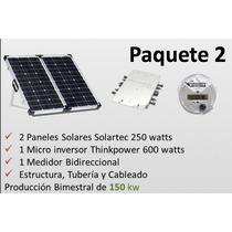 Sistema Solar 168 Kw Producción Bimestral