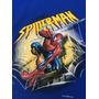 Playera Manga Larga Azul Vintage - Spiderman - Talla Xg/40