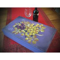 Adornos, Caja Para Vinos, Pintada A Mano, 4 Botellas