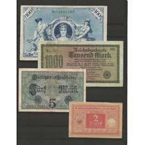 Colección De 4 Billetes Antiguos Alemania 2