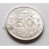 Moneda De Plata 50 Centavos Resplandor Año 1945