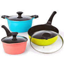 Bateria De Cocina Cook N Home 6 Pzas No Pega Ceramica Color