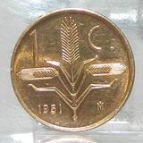 Moneda Un Centavo Espiga México Año 1951
