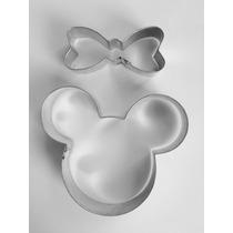Cortador De Galletas Pequeño De Mickey Y Minnie Mouse