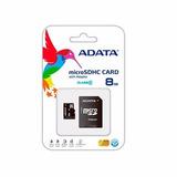 Memoria Micro Sd Adata 8gb Cl4 Sdhc Ausdh8gcl4-ra1