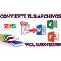 2x1convertidor Pdf A Word Powerpoint Ecxel+ Traductor Idioma