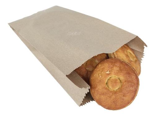 Bolsas No.20 Papel Estraza Cafe 20.5x47.5cm 100pzs Panaderia