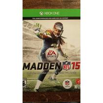 Madden 15 Codigo De Descarga Para Xbox One Entrega Inmediata