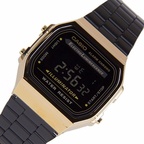 2b241605c550 Reloj Casio Negro Dorado A168 Con Caja Envio Gratis -   429 en ...