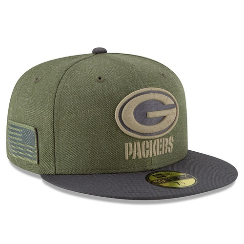 Green Bay Packers Gorra Salute To Service New Era 59fifty fd2dc24b73a
